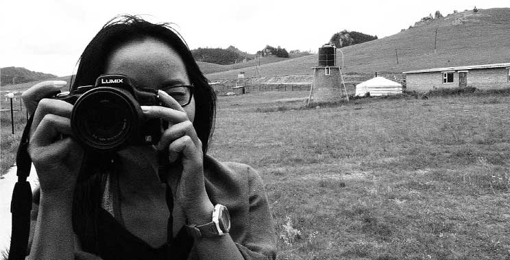 Lae taking a photo of me taking a photo of her