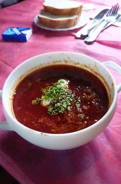 Borscht soup Russia