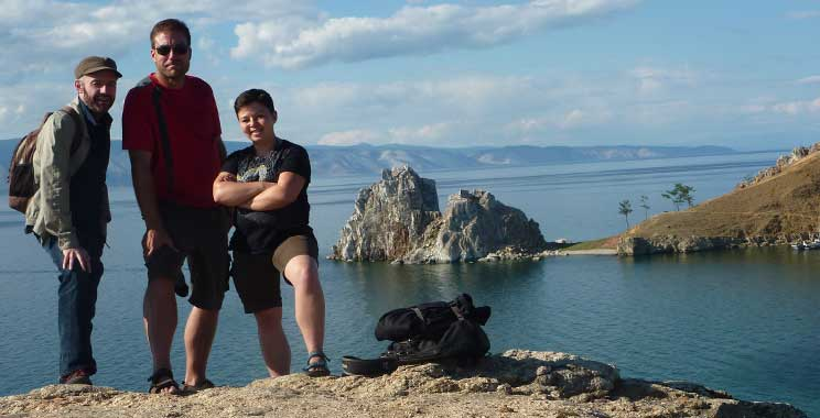 Trevor, Marc and Anna on Olkhon island, Russia