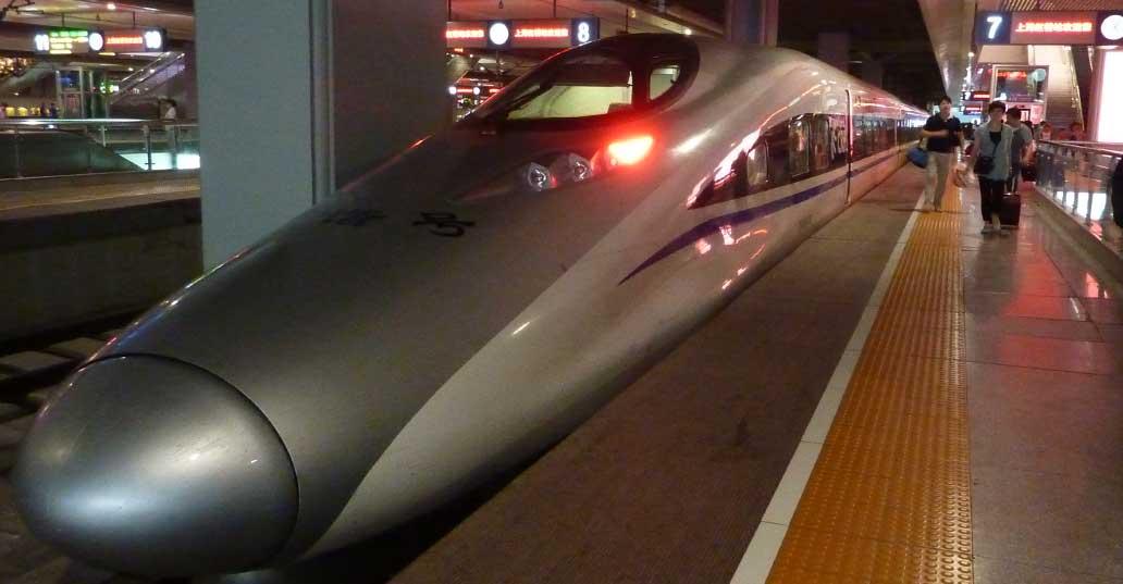 Beijing to Shanghai bullet train